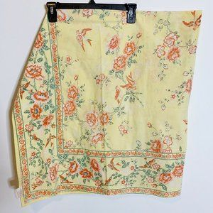 Vintage April Cornell Classic Florals Tablecloth